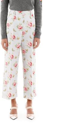 Prada High Waisted Floral Pants
