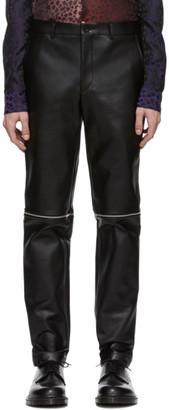 Comme des Garcons Black Faux-Leather Zippered Trousers