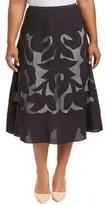 Nic+Zoe Plus Linen-blend Maxi Skirt.