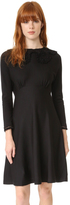 Marc Jacobs Long Sleeve Dress with Crochet Collar