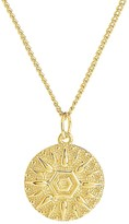 Thumbnail for your product : Sterling Forever Sun Disk Pendant Necklace