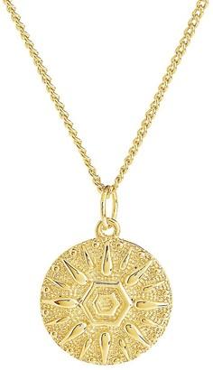 Sterling Forever Sun Disk Pendant Necklace