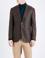 Corneliani Windowpane check tailored-fit wool jacket