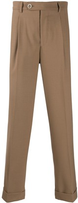 Brunello Cucinelli Straight Fit Pleated Trousers