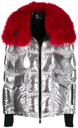 Moncler Atena metallic puffer jacket