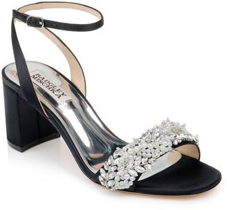 Badgley Mischka Clara Embellished Satin Cocktail Sandals