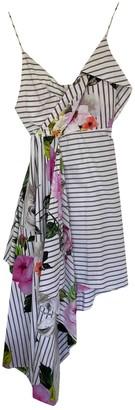 Off-White Multicolour Cotton Dresses