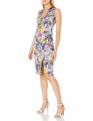 Black Halo Women's Coral Printed Sheath Dress