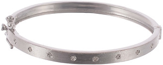 Forever Creations Usa Inc. Forever Creations Silver 0.20 Ct. Tw. Diamond Bangle