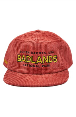 Parks Project Badlands Embroidered Corduroy Baseball Cap
