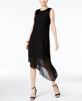 Alfani PRIMA Satin-Trim Illusion Dress, Only at Macy's