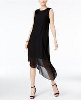 Alfani PRIMA Satin-Trim Illusion Dress, Only at Macy's