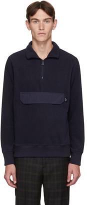 Paul Smith Navy Polar Fleece Half-Zip Sweatshirt