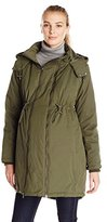JoJo Maman Bebe Women's Maternity 2-In1 Padded Parka with Removable Panel