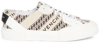 Givenchy Tennis Logo Canvas Sneakers