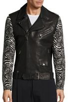 Les Benjamins Dancers of the Sand Zaire Leather Moto Jacket