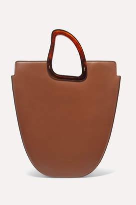 Naturae Sacra - Ourea Large Leather And Resin Tote - Tan