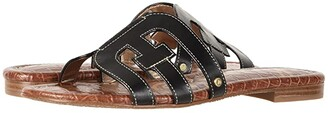 Sam Edelman Bay (Black Vaquero Saddle Leather) Women's Slide Shoes