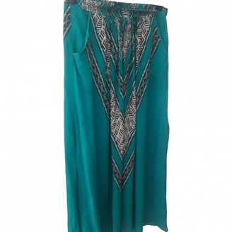 Vix Paula Hermanny Multicolour Silk Skirt for Women