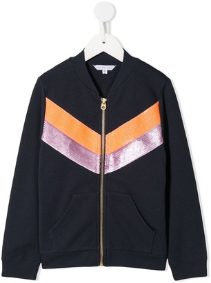 Little Marc Jacobs panelled zipped sweater