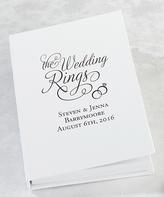 Lillian Rose White Personalized Ring Book Box