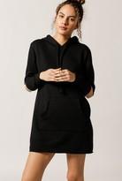 LnA Cut Long Sleeve Hoodie Sweatshirt Dress