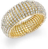 INC International Concepts Gold-Tone Crystal Stone Stretch Bracelet