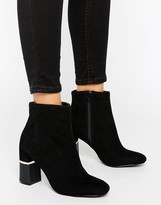 Miss Selfridge Two Tone Heeled Boots