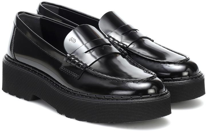 Tod's Black Platform Shoes For Women