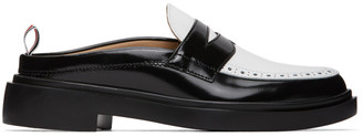 Thom Browne Black and White Cupsole Penny Loafers