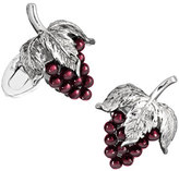 Jan Leslie Garnet Grape Cuff Links, Silver/Purple