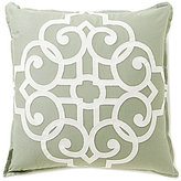 Southern Living Embroidered Tile Cotton & Linen Square Pillow