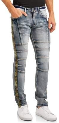 Modern Culture Men's Slim Stretch Moto Jean with Camo Taping