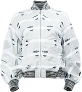 Anrealage printed bomber jacket - women - Cotton/Polyester/Cupro - 40