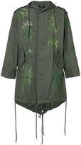 Creatures of the Wind Army embroidered parka - unisex - Cotton - One Size