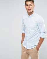 Jack Wills Oxford Shirt In Regular Fit With Stripe In Sky Blue