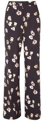 Lela Rose Maggie Floral-print Crepe Wide-leg Pants