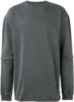 MHI oversized seam panel sweater - men - Cotton - M