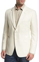 Tom Ford O'Connor Base Herringbone Two-Button Sport Coat, White