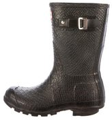 Hunter Embossed Rain Boots