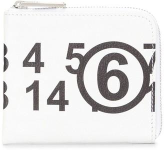 MM6 MAISON MARGIELA Logo Print Zipped Wallet