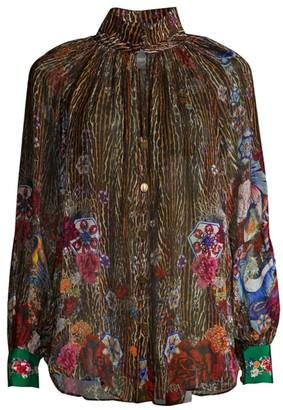 Camilla Mythical Creatures Silk Blouse