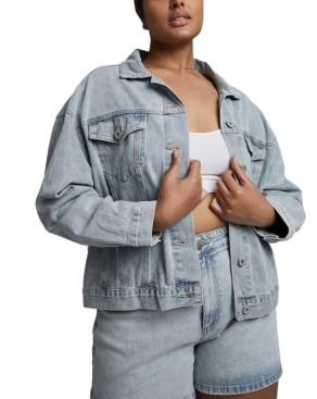 Cotton On Trendy Plus Size 90s Baggy Denim Jacket