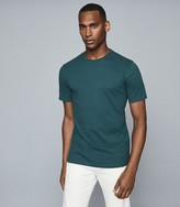 Reiss Bless - Regular Fit Crew Neck T-shirt in Teal