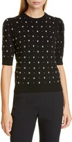 Michael Kors Studded Short Sleeve Cashmere Sweater