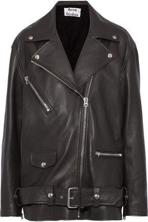 7e002ed72 Myrtle Oversized Leather Biker Jacket