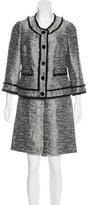 Kate Spade Fringe-Accented Bouclé Skirt Suit