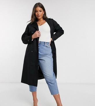 Vero Moda Curve tailored trench coat in black