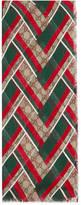 Gucci GG Chevron modal silk scarf