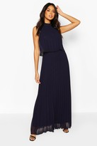 boohoo Bridesmaid Occasion Pleated Double Layer Maxi Dress